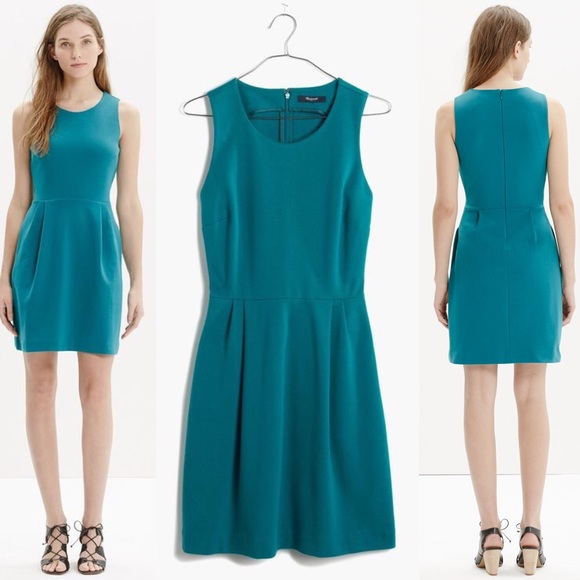 2a5329edf2 Madewell Dresses   Skirts - Madewell Summer Teal Verse Fit Flare Pleated  Dress